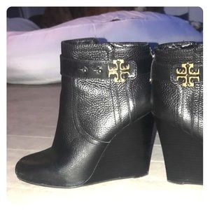Tory Burch wedge booties size 8